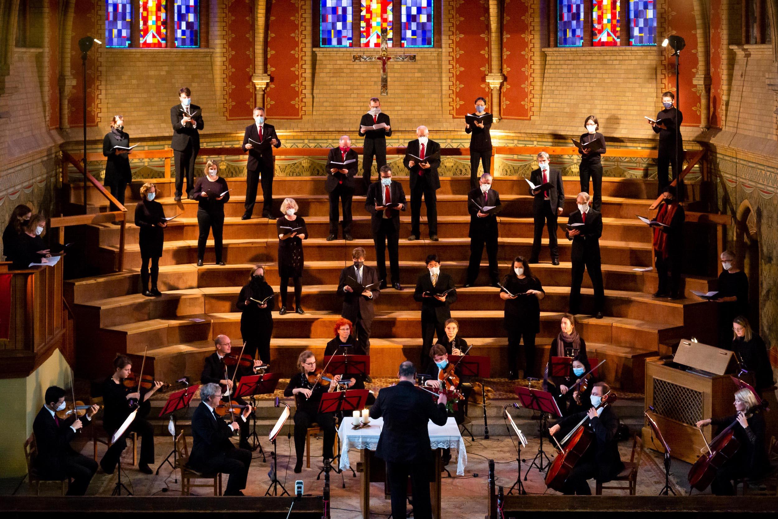 Singen im Gottesdienst »Feste Burg« am 31. Oktober 2020  (Foto: Andreas Fink)